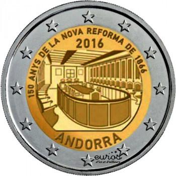 2 euros commémorative ANDORRE 2016 - 150 ans de la nouvelle réforme de 1866