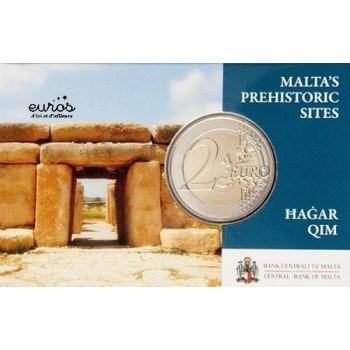 Coincard 2 euros MALTE 2017 - Hagar Qim - Monnaie de Paris