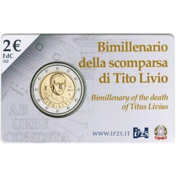Coincard 2 euros BU ITALIE 2017 - Anniversaire de la mort de Tito Livio
