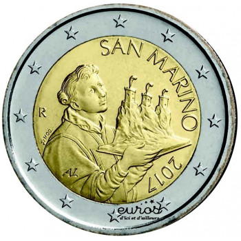 2 euros SAINT MARIN 2017 - Le Saint Marin - Nouvelle effigie