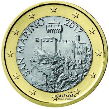 1 euro SAINT MARIN 2017 - La Deuxième Tour - Nouvelle effigie