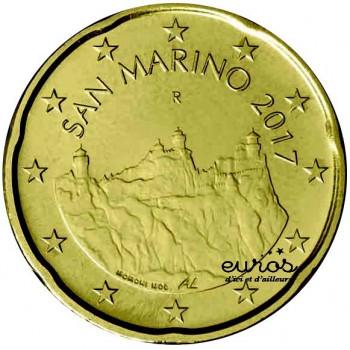0,20 euros ou 20 cent SAINT MARIN 2017 - Les Trois Tours - Nouvelle Effigies