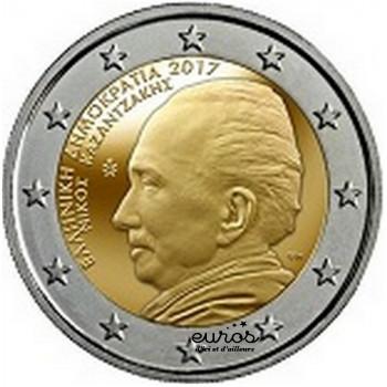 2 euros commémorative GRECE 2017 - Nikos Kazantzakis