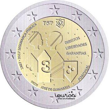 2 euros commémorative PORTUGAL 2017 - 150ème anniversaire de la Sécurité Publique
