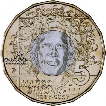 5 euros commémorative SAINT MARIN 2017 - Marco Simoncelli 1987 - 2017