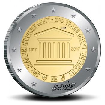 2 euros commémorative Belgique 2017 - 200 ans de l'Université de Ghent - UNC
