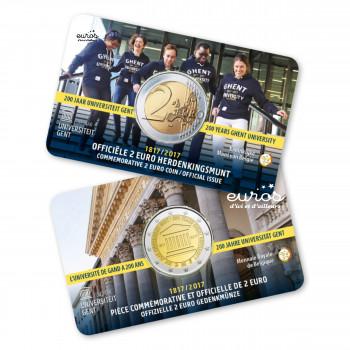 Coincard 2 euros Belgique 2017 - 200 ans de l'Université de Ghent