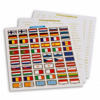 Jeu d'étiquettes autocollantes des drapeaux européens - 321 082