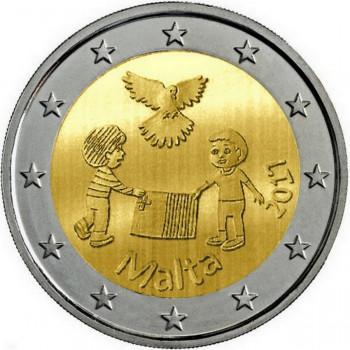 2 euros commémorative MALTE 2017 - La Paix - UNC