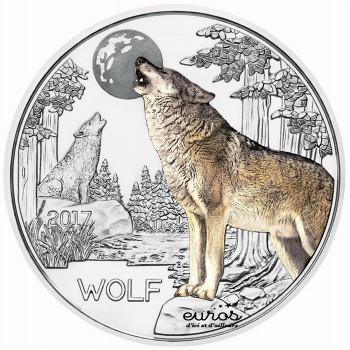 3 euros Autriche 2017 - Le Loup - Série animaux 5/12