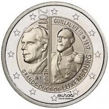 2 euros commémorative LUXEMBOURG 2017 - Guillaume III - UNC