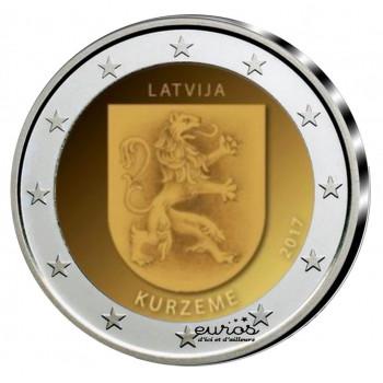 2 euros LETTONIE 2017 - Kurzeme - 1/2 - UNC