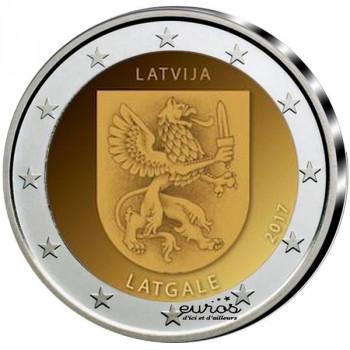 2 euros commémorative LETTONIE 2017 - Région de Latgale - 2/2 -UNC