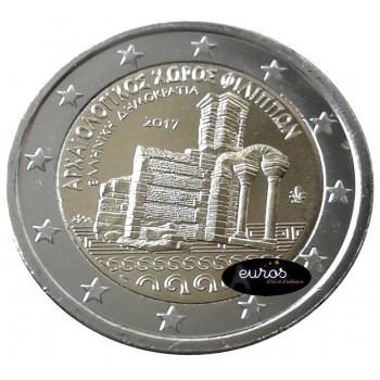 2 euros commémorative GRECE 2017 - Ancienne cité Archéologique de Philippes