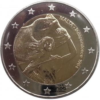 2 euros commémorative MALTE 2014 - Indépendance