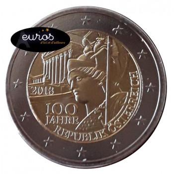 2 euros commémorative AUTRICHE 2018 - 100ème anniversaire de la Démocratie Autrichienne - UNC