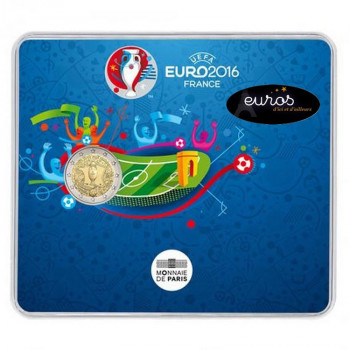 2 euros BU France 2016 - Coupe de l'UEFA EURO 2016 - Version Brillant Universel -  Football