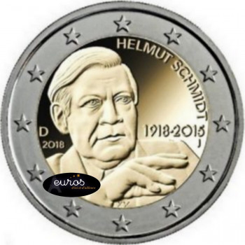 2 euros commémorative ALLEMAGNE 2018 - Helmut Schmidt - UNC