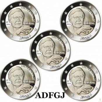 5 x 2 euros commémoratives ALLEMAGNE 2018 - Helmut Schmidt - ADFGJ- UNC