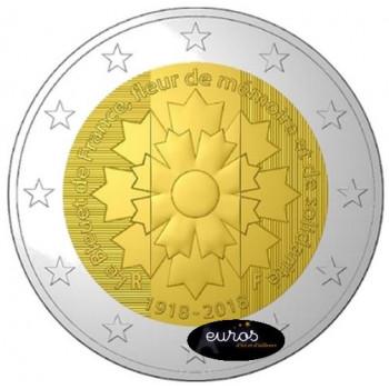 2 euros commémorative FRANCE 2018 - Bleuet et Armistice