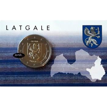Coincard 2 euros commémoratif LETTONIE 2017 - Région de Latgale - BU