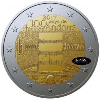 2 euros commémorative ANDORRE 2017 - Hymne National - UNC - Coincard