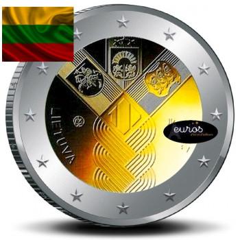 2 euros commémorative commune LITUANIE 2018 - Centenaire de l'Indépendance des Etats Baltes - UNC