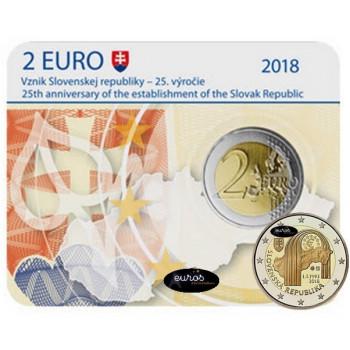 Coincard 2 euros SLOVAQUIE 2018 - 25ème anniversaire de la Création de la République Slovaque - BU
