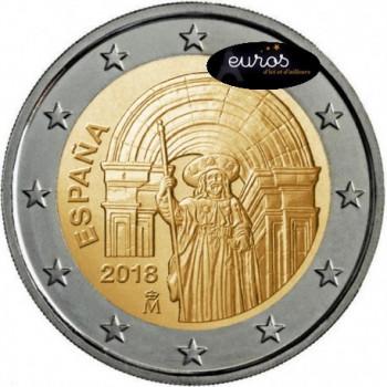 2 euros commémorative ESPAGNE 2018 - Saint Jacques de Compostelle - UNESCO - UNC