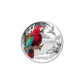 3 euros Autriche 2018 - Le Perroquet - Série animaux 6/12