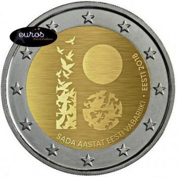 2 euros commémorative ESTONIE 2018 - Centenaire de la Première Déclaration d'Indépendance