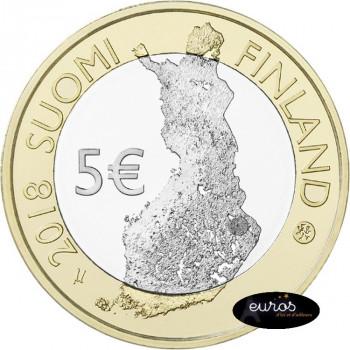 5 euros commémorative FINLANDE 2018 - Koli, Karelie du Nord - Paysages Nationaux Finlandais - 1/9