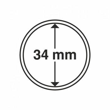 Capsules rondes x 10 - Diamètre 34mm - LEUCHTTURM