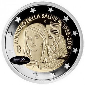 2 euros commémorative ITALIE 2018 - Ministère de la Santé - Belle Epreuve 2/2