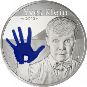 10 euros argent BE Yves Klein 2012