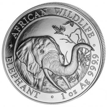 SOMALIE 2018 - 100 Shillings - 1 oz - Elephant, la Faune Africaine