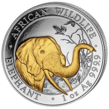 SOMALIE 2018 colorisée - 100 Shillings - 1 oz - Elephant