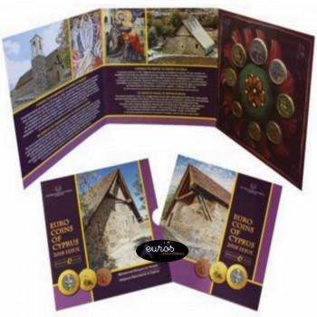 Set BU CHYPRE 2018 - Série 1 cent à 2 euros - Monuments Religieux de Chypre