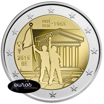 2 euros commémorative BELGIQUE 2018 - mai 68 - UNC
