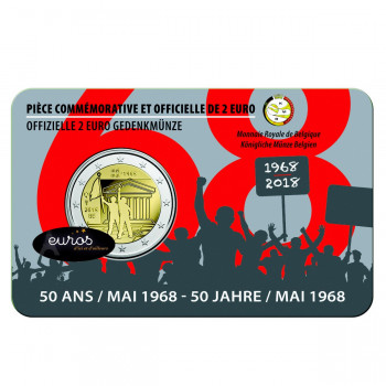 Coincard 2 euros BELGIQUE 2018 - 50ème anniversaire mai 1968 - UNC
