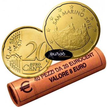 0,20 euros ou 20 cent SAINT MARIN 2018 - Les Trois Tours