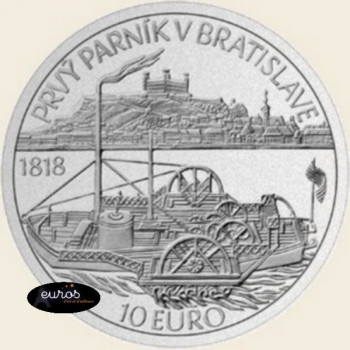 10 euros SLOVAQUIE 2018 - Bateau à Vapeur - Brillant Universel