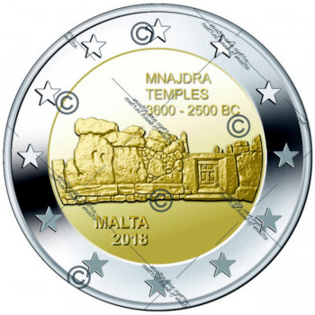 2 euros BU Malte 2018 - Mnajdra avec différent