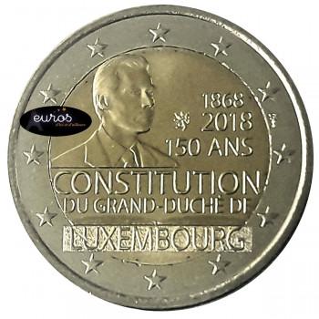 2 euros commémorative LUXEMBOURG 2018 - 150ème anniversaire de la Constitution du Luxembourg - UNC