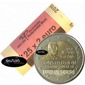 Rouleau 25 x 2 euros LUXEMBOURG 2018 - 150ème anniversaire de la Constitution du Luxembourg - UNC