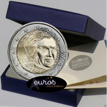 2 euros commémorative FRANCE 2018 - Simone Veil - Belle Epreuve