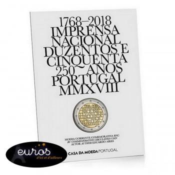 2 euros commémorative Brillant Universel PORTUGAL 2018 - Imprimerie nationale portugaise