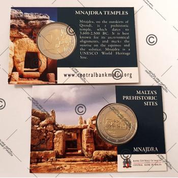 Coincard 2 euros commémorative MALTE 2018 - Mnajdra