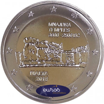 2 euros commémorative MALTE 2018 - Mnajdra - UNC