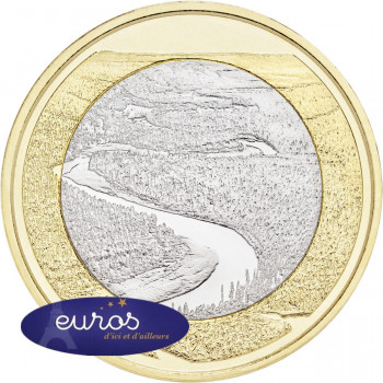 5 euros commémorative FINLANDE 2018 - La Rivière Oulankajoki - 7/9